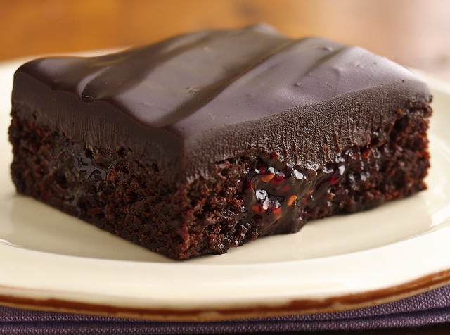 Raspberry-Chipotle Brownies with Chocolate Ganache | Flickr - Photo ...