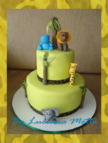 bolo ch de beb safari baby shower safari cake flickr photo