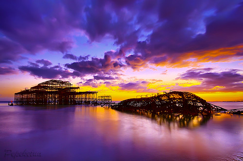 Sunset On The West Pier
