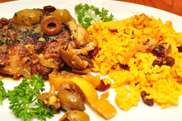 moroccan chicken and rice pilaf   whitehairedoldgrouch.tumbl ...