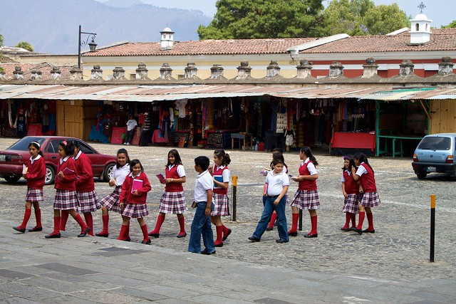 Schoolgirls in Antigua Guatemala