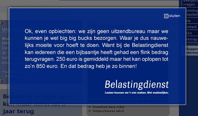 Grappig dat bigbigbucks.nl verhaal - Gewoon de ... Belastingdienst