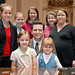Sean Nienow & Family at Senate Desk