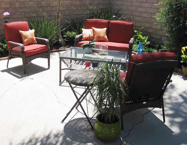outdoor living space backyard patio furniture