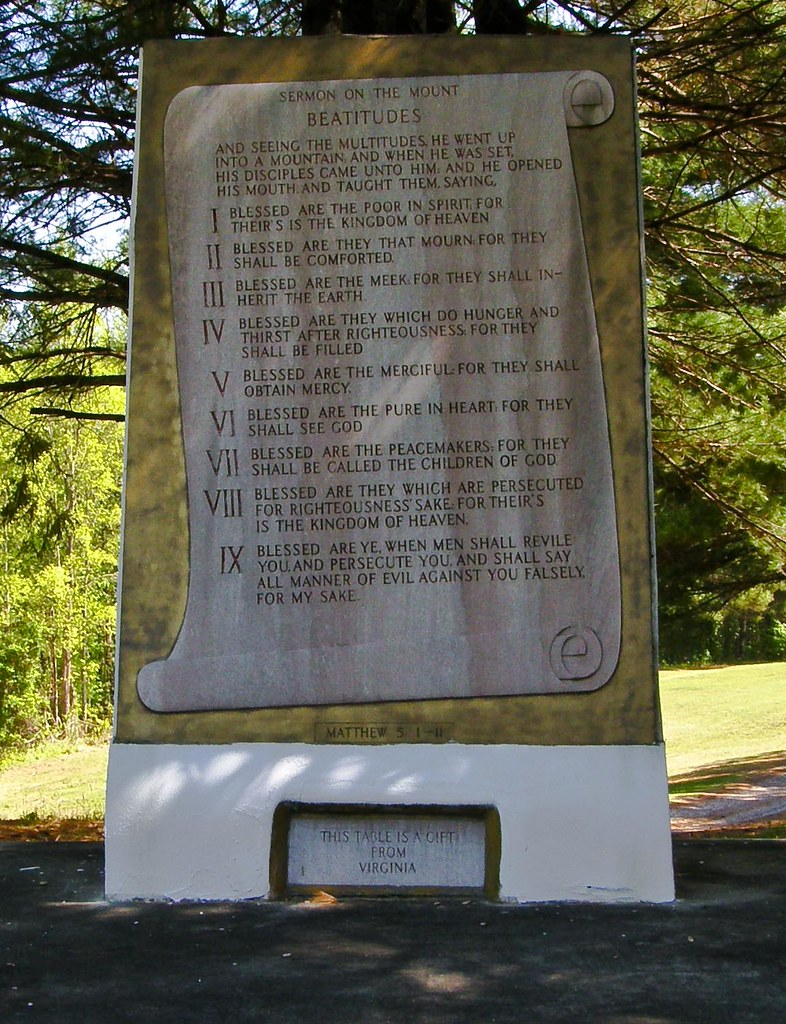 Wood Elevation Burger : Ten commandments map north carolina mapcarta