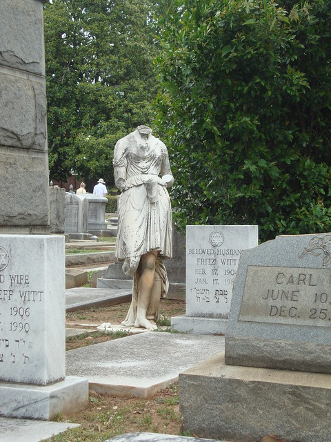 Damaged Statue Monument, Oakland Cemetery, Atlanta GA