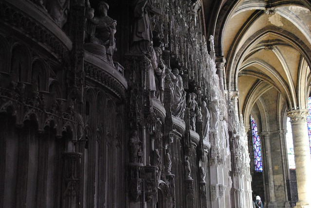 Chartres Cathedral Statue Restoration Before Afer