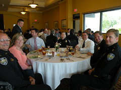 Sanibel Police Officers with Elizabeth Buikema (center) - 2010 honoree