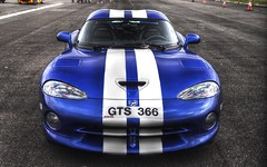Dodge Viper GTS, Blue, Tonemapped HDR