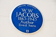 Photo of William Wymark Jacobs blue plaque
