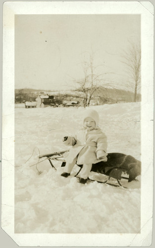 Child and Sled