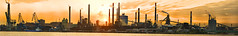 [Free Images] Architecture, Factory, Sunrise / Sunset, Landscape - Japan, Panorama ID:201112271800