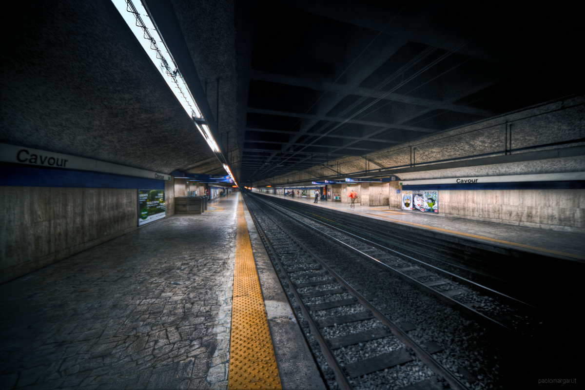 Underground in Rome, Metro Cavour, Roma, Italy