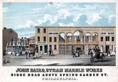 John Baird, steam marble works, Ridge Road above Spring Garden St. Philadelphia, [ca. 1848]