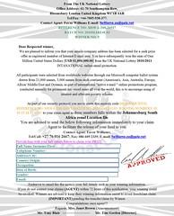 ELECTRONIC MAIL AWARD WINNING NOTIFICATION