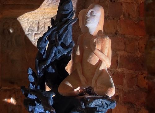 Embraced Carving (HDR) - Reconnect: Zíta Rá Woodsculpture Art Installation