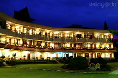 building, landmark, hotel, estate, mansion, residential area, resort, facade, night,