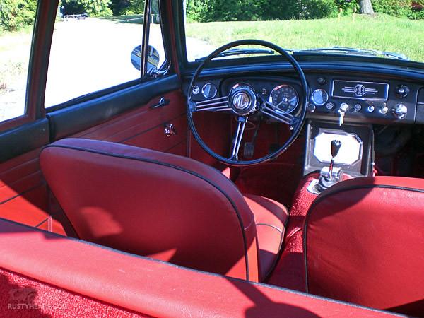 Interior, 1967 MGB GT ...