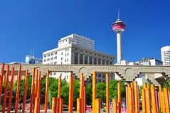 Calgary - Olympic Plaza & Calgary Tower