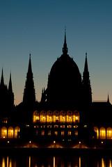 Parliament closeup before sunrise