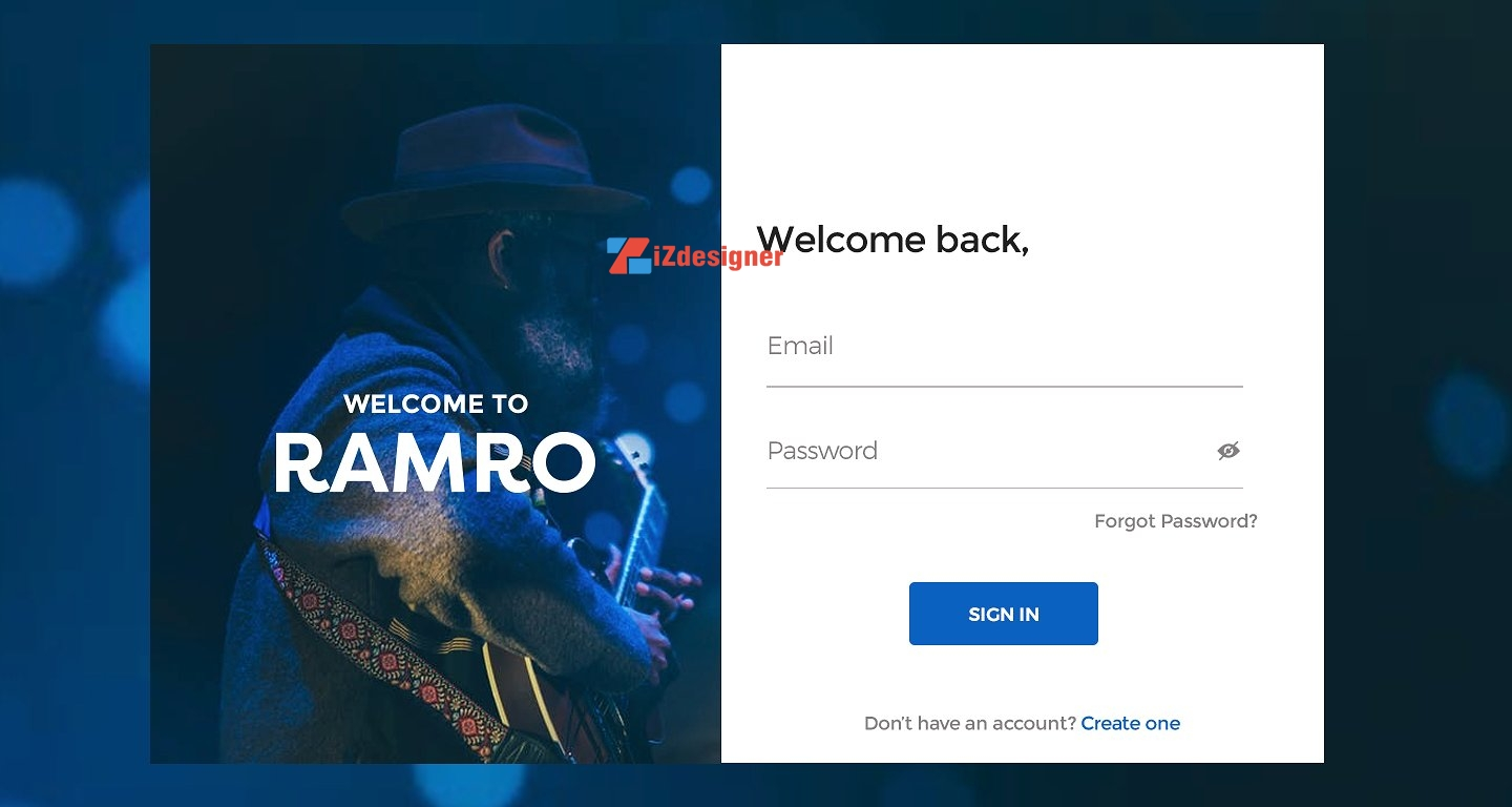 PSD Template Login Page Miễn Phí Download