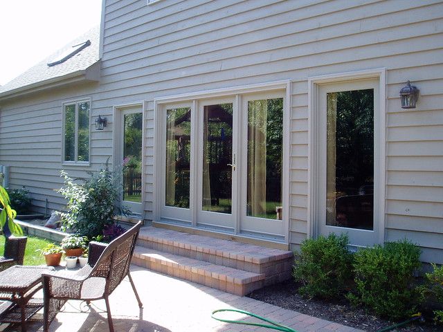 3 Panel Hinged Patio Door : Panel hinged patio door with sidelites flickr photo