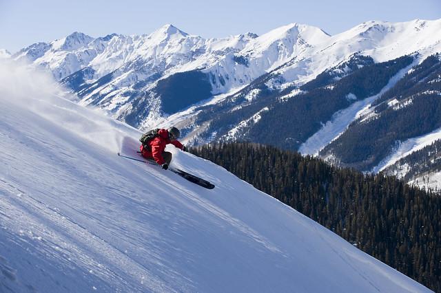 Skiing on Aspen Mountain