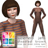 """hue are you?"" superhero jams steadfast brown"
