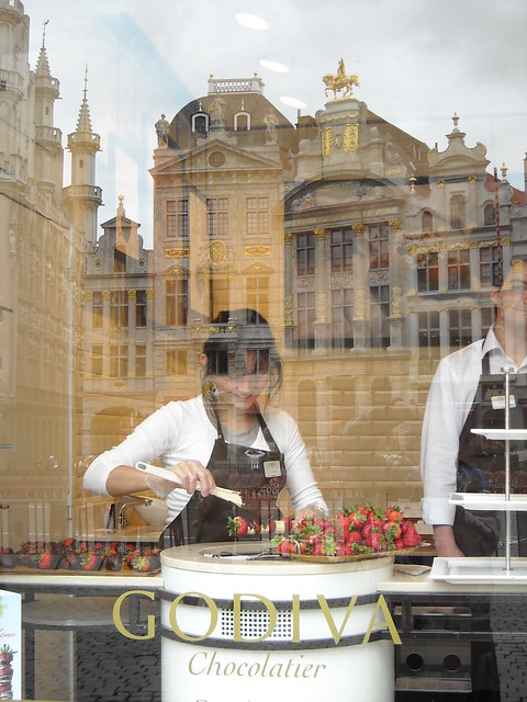 Grand Place and chocolate