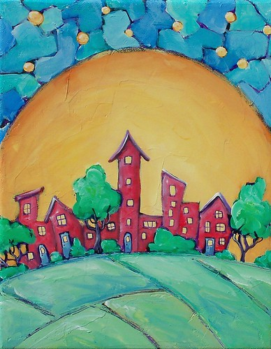 tinyhouse acryliclandscapepainting originalpaintingsforsale
