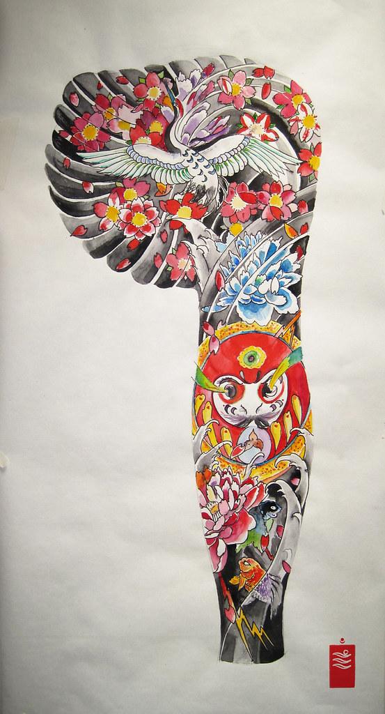 Darumas Dream New Style Japanese Sleeve Tattoo Darumas Flickr