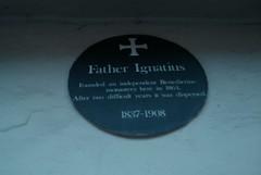 Photo of Joseph Leycester Lyne green plaque