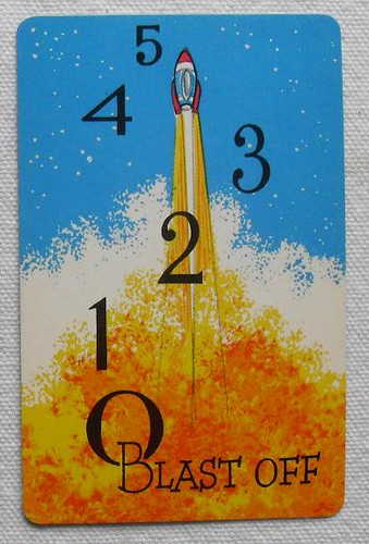 1950s 1960s Vintage Atomic Style SPACE O Outer Space Playing Game Cards Midcentury Blast Off Rocket Cartoon
