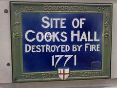 Photo of Cooks Hall blue plaque