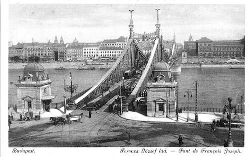 Old postcards of Budapest – Frans-Joseph Bridge