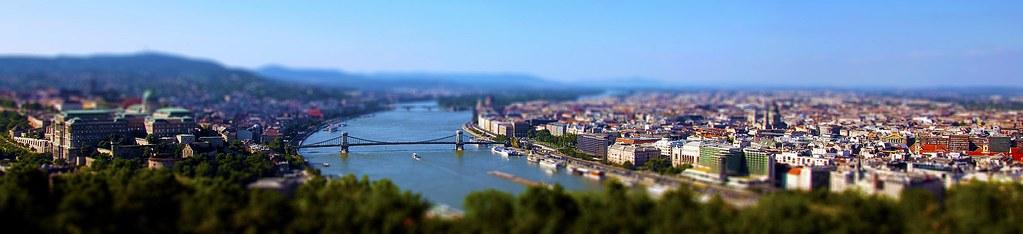 Budapest Tilt Shift, Gellért Hill, Budapest