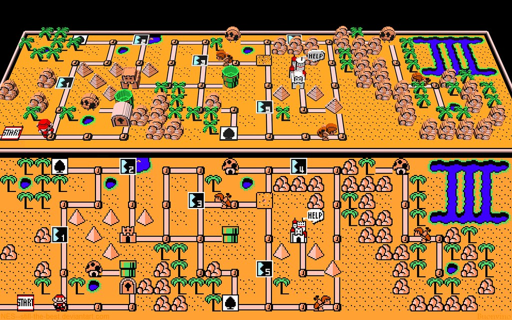 All sizes | Super Mario Bros 3   World 2 Map | Flickr   Photo Sharing!