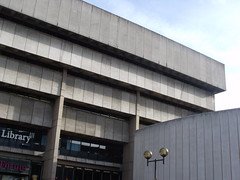 Birmingham Central Library from Centenary Way
