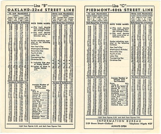 Key System Time Table: Bridge Railway Service between the East Shore Empire and San Francisco (1942)