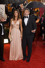 2010 Golden Globes - Elisabetta Canalis and George Clooney