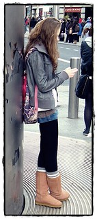 Girl wears new Uggs - Dublin, the capital of Ireland in February 2010 - Enjoy the beauty!:)