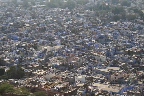 blue urban india aerial rajasthan chittorgarh