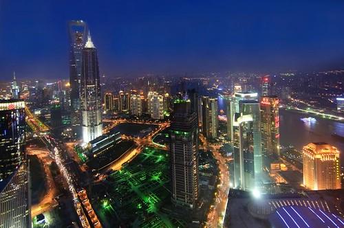 Flying over Shanghai