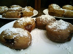 baking, sufganiyah, baked goods, poffertjes, food, dish, dessert, cuisine, beignet, powdered sugar,