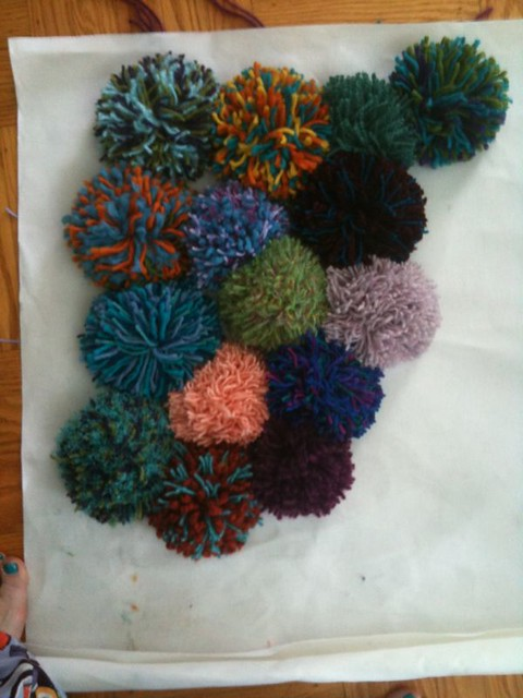 Pom Pom Rug Photo By Terri Hodges Www Craftingthegalaxy
