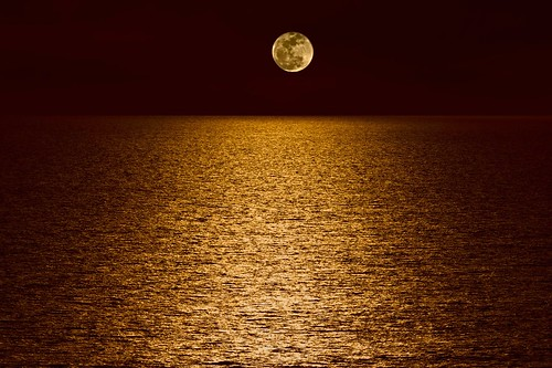 Moon Over Pacific Ocean by Kartik J