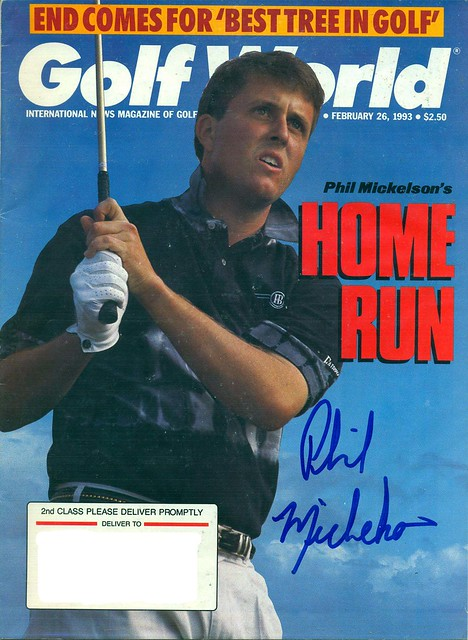 February 26, 1993, Autographed Golf World Magazine by Phil Mickelson