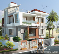 bungalow_www.3dpower.in_architectural rendering_india