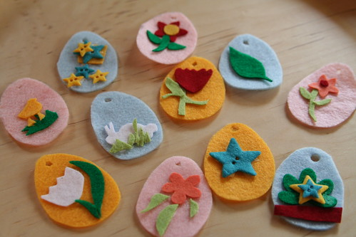 Easter Felt Ornaments