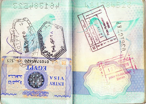 Passport Page with stamps